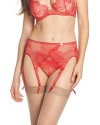 Dita Von Teese - Red Lace Garter Belt - Lyst