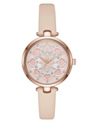 Kate Spade | Pink Holland Leather Strap Watch | Lyst