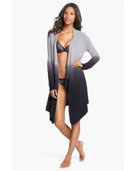 Barefoot Dreams - Blue Barefoot Dreams Drape Front Cardigan - Lyst