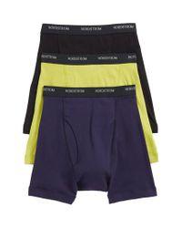Nordstrom 3-pack Supima Cotton Boxer Briefs, Green for men