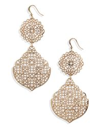 BP. - Metallic Medallion Earrings - Lyst