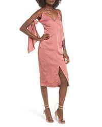 Keepsake | Pink Raindrops Midi Dress | Lyst