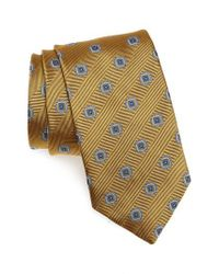 David Donahue - Metallic Medallion Silk Tie for Men - Lyst