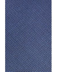 Calibrate Blue Sargent Solid Silk & Cotton Tie for men