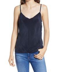 AG Jeans Blue Scarlet Matte Satin Camisole