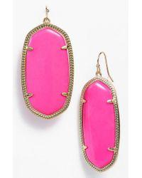Kendra Scott - Purple Danielle - Large Oval Statement Earrings - Lyst