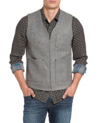 Jeremiah - Gray Cambria Heathered Zip Vest for Men - Lyst