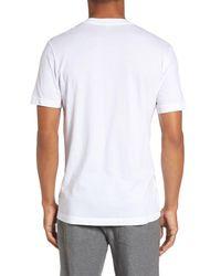 James Perse White Short Sleeve V-neck T-shirt for men