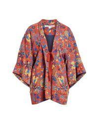 Elizabeth and James Red Drew Crop Sleeve Kimono
