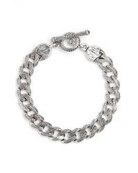 Konstantino | Metallic Silver Classics Etched Link Bracelet | Lyst