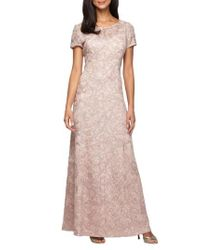 Alex Evenings   Pink Lace A-line Gown   Lyst