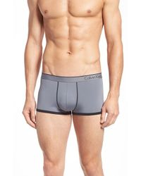 Calvin Klein | Gray 'ck One - U8516' Low Rise Trunks for Men | Lyst