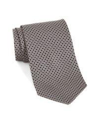 Ferragamo   Black Gancini Print Silk Tie for Men   Lyst