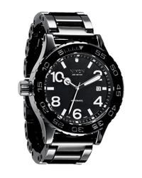 Nixon | Black 'the Ceramic 42-20' Automatic Watch for Men | Lyst