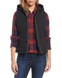 Andrew Marc - Black Sage Hooded Quilted Vest - Lyst