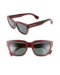 Burberry Gray 54mm Square Sunglasses - Bordeaux/ Grey Solid