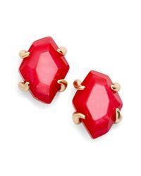 Kendra Scott - Blue Inaiyah Gold Stud Earrings In Aqua Howlite - Lyst