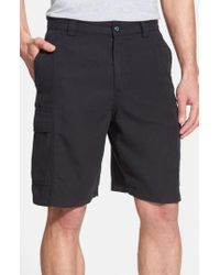 Tommy Bahama Blue 'key Grip' Relaxed Fit Cargo Shorts for men
