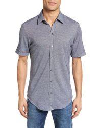 b5f02998 Lyst - BOSS Robb Jersey Sport Shirt in Blue for Men