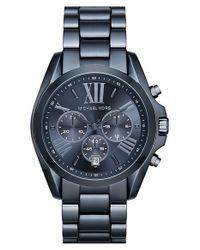 MICHAEL Michael Kors | Blue Michael Kors 'bradshaw' Chronograph Bracelet Watch for Men | Lyst