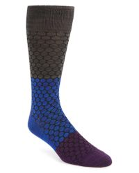 Calibrate - Blue Honeycomb Colorblock Socks for Men - Lyst