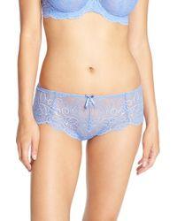 Panache - Blue Lingerie 'andorra' Lace Hipster Briefs - Lyst