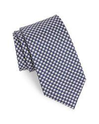 Ferragamo - Blue Ematite Print Silk Tie for Men - Lyst