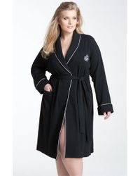 Lauren by Ralph Lauren | Black Shawl Collar Robe | Lyst