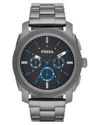 Fossil | Gray 'machine' Chronograph Bracelet Watch for Men | Lyst