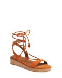 Frye - Orange Miranda Gladiator Platform Sandal - Lyst