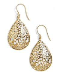 Argento Vivo | Metallic Teardrop Dome Lace Earrings | Lyst