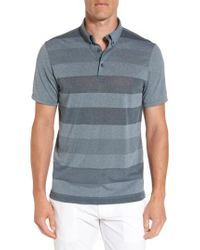 AG Jeans | Blue Hansen Stripe Polo for Men | Lyst