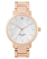 kate spade new york Metallic 'gramercy' Bracelet Watch