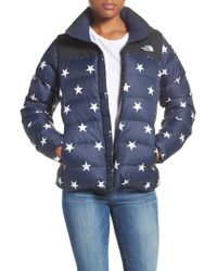 The North Face Blue International Collection Nuptse 700-fill Power Down Puffer Jacket