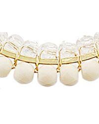 Panacea Metallic Crystal Beaded Hoop Earrings