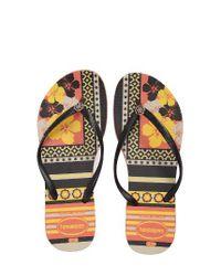 Havaianas | Orange 'slim Thematic' Flip Flop | Lyst