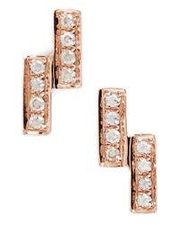 Dana Rebecca | Metallic Sylvie Rose Double Bar Diamond Earrings | Lyst