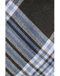 Calibrate Black Hogarth Plaid Silk Tie for men
