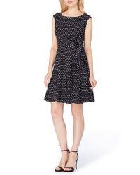Tahari - Black Fit & Flare Dress - Lyst