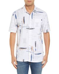 Jack O'neill | White Hook And Line Print Camp Shirt for Men | Lyst