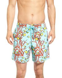 Vilebrequin - Blue Coral & Fish Print Swim Trunks for Men - Lyst