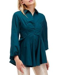 Free People   Blue All The Time Tunic   Lyst