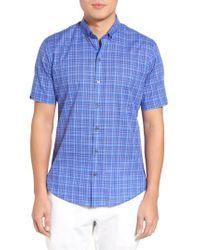 Zachary Prell - Blue Shammas Plaid Sport Shirt for Men - Lyst