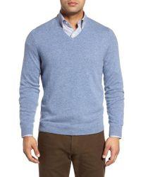 John W. Nordstrom - Blue John W. Nordstrom Cashmere V-neck Sweater for Men - Lyst