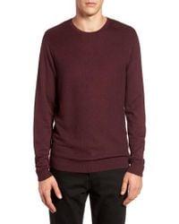 Calibrate | Purple Honeycomb Stitch Crewneck Sweater for Men | Lyst