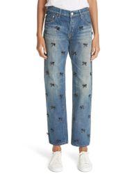 Tu Es Mon Tresor - Blue Petit Ribbon Bow Jeans - Lyst