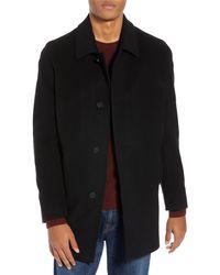 Cole Haan Brown Italian Wool Blend Overcoat for men