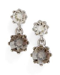 Ted Baker | Metallic Ted Baker Conolle Crystal Drop Earrings | Lyst