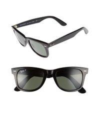 Ray-Ban - Black 50mm Wayfarer Ease Polarized Sunglasses - Lyst