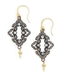 Armenta - Black Arementa Old World Open Scroll Drop Earrings - Lyst
